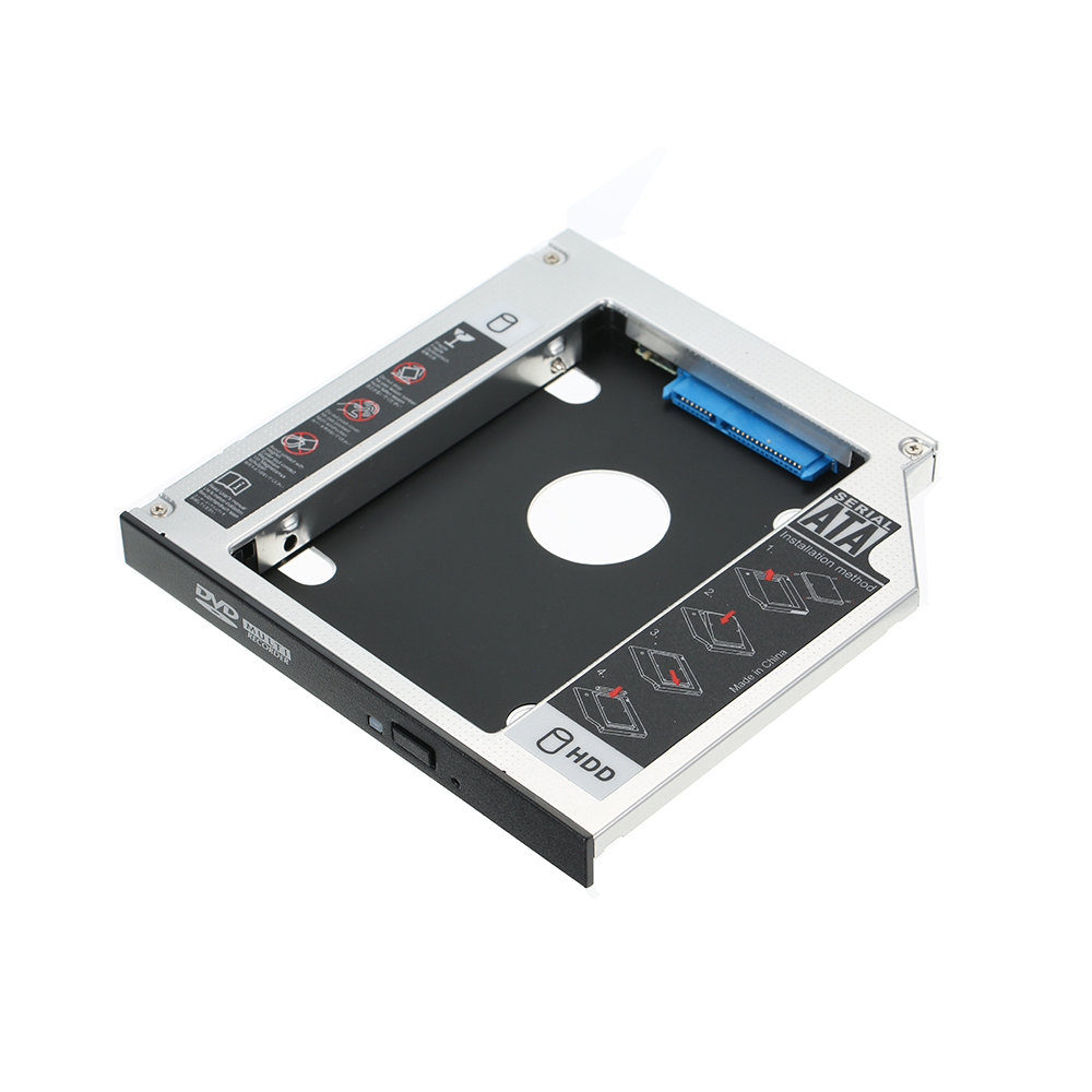 Hard Drive Caddy Fach SATA 2nd HDD SSD Caddy Fall für 12,7mm Universal-CD/DVD-ROM