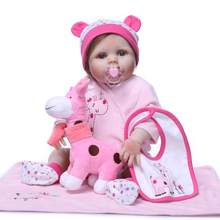 55CM 22 inch full soft Silicone body adorable Lifelike toddler Baby kid toys reborn doll Appease Doll Christmas birthday gifts(China)