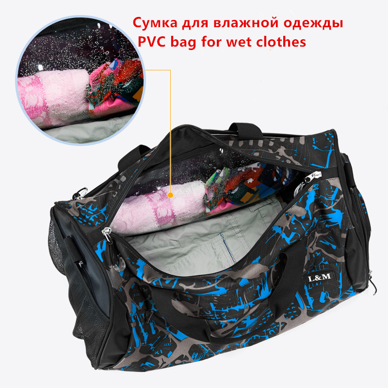 50dc84e86ece 2018 New Popular large Nylon Sport Gym Bag for Men Women Fitness Yoga sac  de sport size 50.00 x 26.00 x 25.00 cm-in Gym Bags from Sports    Entertainment on ...