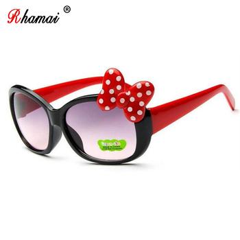 RHAMAI 2018 okularów dla dzieci miłość serce dziewczyny okulary przeciwsłoneczne dla dzieci lato UV400 plastikowe okulary przeciwsłoneczne dla dziewczynek tanie i dobre opinie Butterfly Z tworzywa sztucznego Akrylowe RD11 53MM 40MM