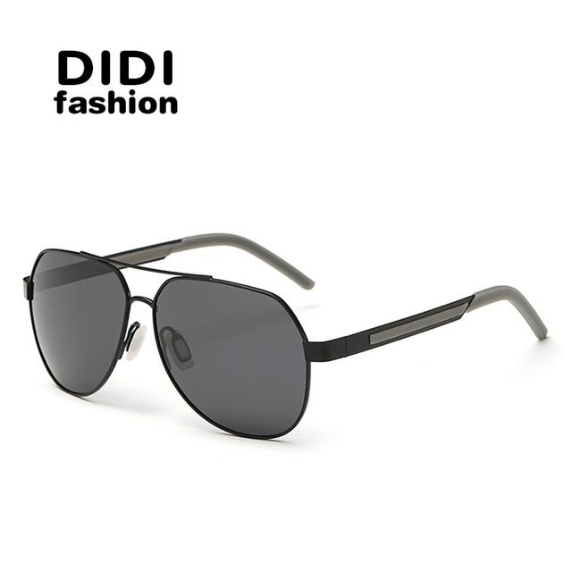 DIDI Multi Óculos Polarizados Aviador Óculos De Sol Dos Homens Da Marca Designer Driving Óculos Lunette de Soleil Gafas De Sol óculos De Sol de Grandes Dimensões H269