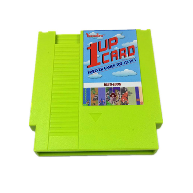 1 Up Card - 122 in 1 Game Cartridge for Classic NES 2
