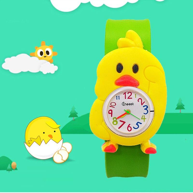 Fashion Kids Watches Animal Little Yellow Chicken Cute Children Clock Baby Kid Quartz Waterproof Wrist Watch For Girls Boys Gift