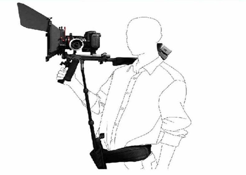 Dsrl Rig suport Rod / Video Stabilizer Shoulder pad waist brace for 5d ii & Video Camcorder support bracket