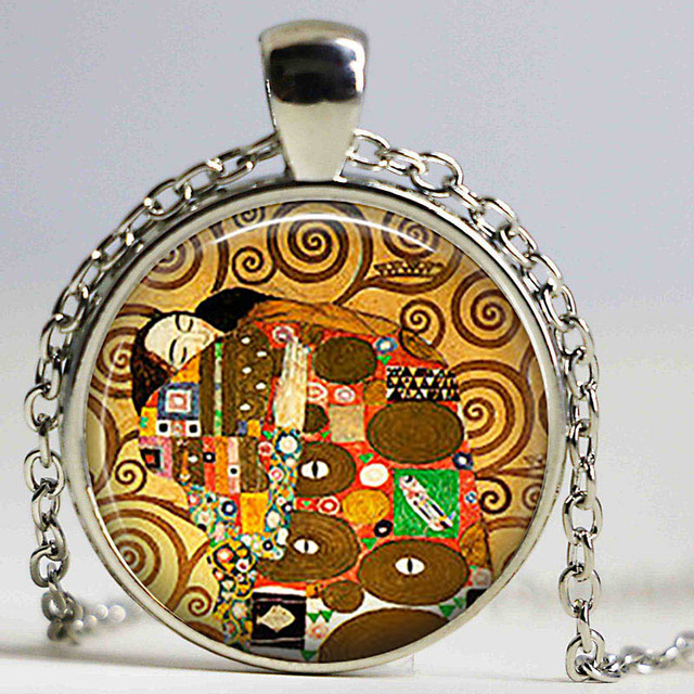 Round glass cabochon gustav klimt art pendant making photo cameo round glass cabochon gustav klimt art pendant making photo cameo cabochon setting supplies for jewelry accessories aloadofball Choice Image