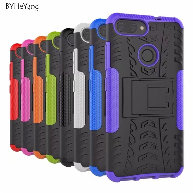 BYHeYang For Asus Zenfone Max Plus M1 Case TPU & PC Silicone Dual Armor Back Cover For Asus Zenfone Max Plus M1 ZB570TL X018D
