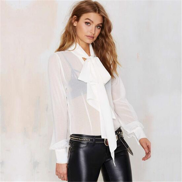 Buy Perspective Women Bow Shirt Fashion