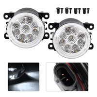 2x Car 9 LED Front Left Right Fog Lamps DRL Daytime Running Driving Lights Fit For