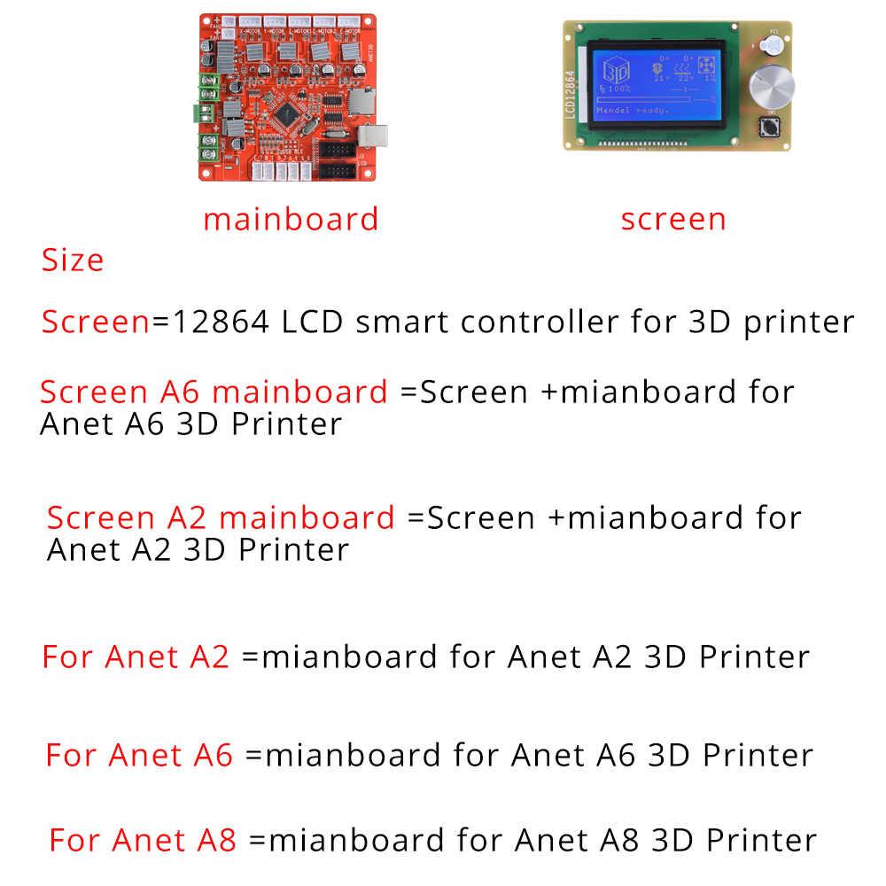 Placa madre de Control Anet A1284-Base para impresora de escritorio 3D de automontaje DIY Anet A8