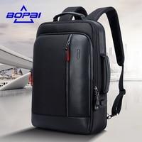 BOPAI Waterproof Designer Backpacks For Men Travel High School Students Backpack Bag New Designed Shrink Backpack