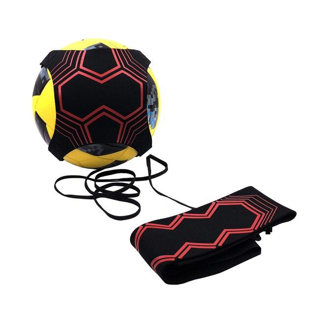 Cinturón de fútbol entrenador balón de fútbol tiro Solo entrenamiento ayuda Control habilidades ajustable cintura cinturón niños adultos dropshipping