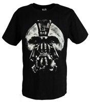 Movie Batman The Dark Knight Rises Bane Black 100% Cotton Printing Pattern O neck Short Sleeve T shirts