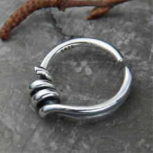 цены Creative Design Springs Spiral Open Rings Antique Silver Jewelry 100% Sterling Silver Jewelry Party Gifts