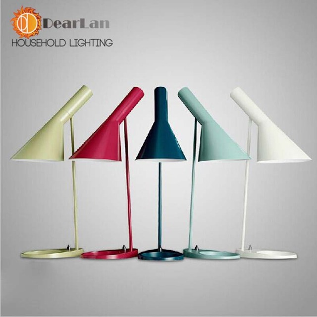 Modern Table Lamp With E27,AJ Desk Lamps For Bedside,White And Black Table Lamp For Bedroom,Living Room,Study,Office