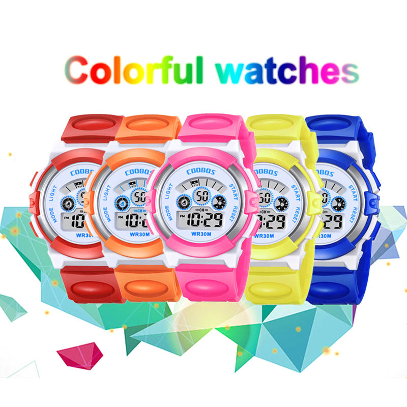 Fashion Children's Watch Multi-function Electronic Rubber Wrist Watch Luminous Boy Girl Waterproof Student Sports Watch For Kids