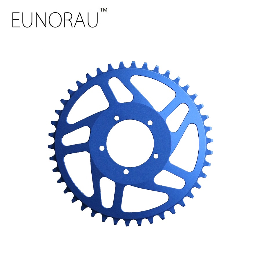 Free shipping New aluminum narrow wide 42T chainring for bafang BBS01/02 mid drive motor kit free shipping btn8982ta btn8982 8982 to 263 new original motor drive
