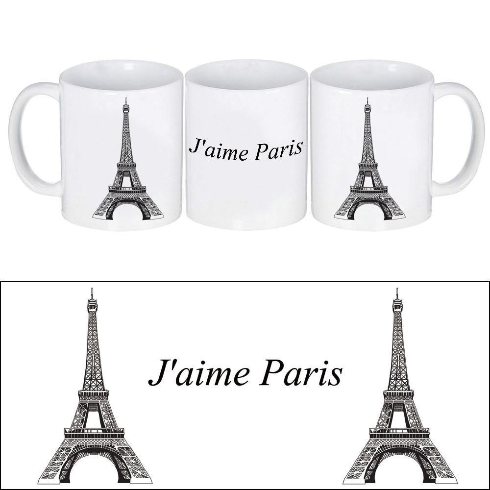 Keren Mug Keramik Cangkir Kopi Dengan Kartun Eiffele Tower