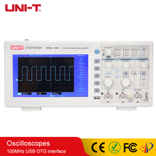 цена на UNI-T Digital Oscilloscope 100MHz Bandwidth with USB OTG Interface 2 Channels Storage Portable Oscilloscope 7 LCD UTD2102CEX