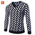 Roupas de marca Homens Pulôver 2016 Nova Moda Inverno Gola V Dos Homens camisola Da Marca Slim Fit Pullovers Casuais Camisola Homens 3 cores