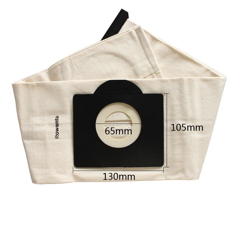 1 pcs Dust Bag Reuse Washabe Cloth Bag for karcher WD3 MV3 SE4001 A2299 K 2201 F K 2150 Vacuum Cleaner Parts