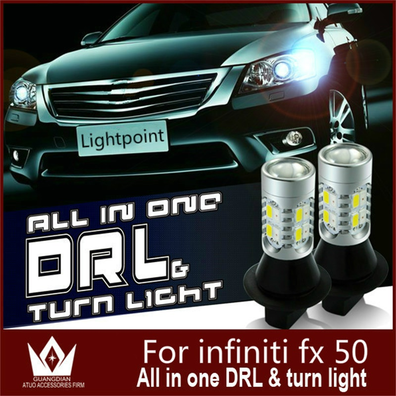 Guang Dian car auto led light Daytime Running Lights Front Turn Signal Light drl switch light For Infiniti FX 50 T20 7440 WY21W guang dian car lights 3w new eagle eye lamp led for daytime running light drl lamp fog light waterproof do licence back up
