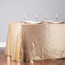 """Nappe de Table or Rose, à paillettes, de Style, pour mariage, décor rond, or foncé, 40 """"x 60"""", 1 pièce"""