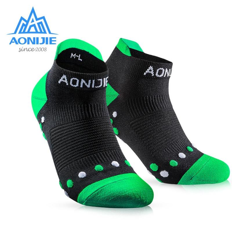 AONIJIE E4081S Sports Running Athletic Performance Tab Training Cushion Quarter Knit Compression Socks Heel Shield Marathon