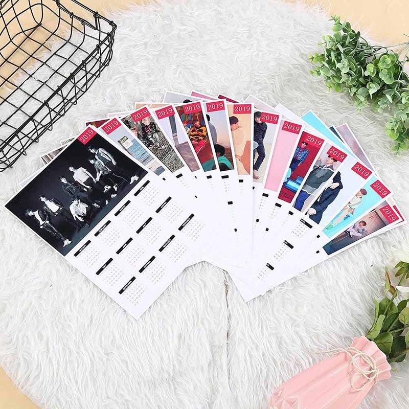 Calendar Calendars, Planners & Cards 2019 K-pop Bts Bangtan Boys Love Yourself A4 Wall Calendar Jin V Picture Photo Album Calendar School Office Supplies
