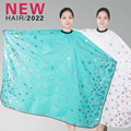 2016 1Pcs Big Size Salon Hairdressing Floral Pattem Cut Hair Apron Blue Hair Cutting Cape Barber Gown Styling Tools Parrucchiere