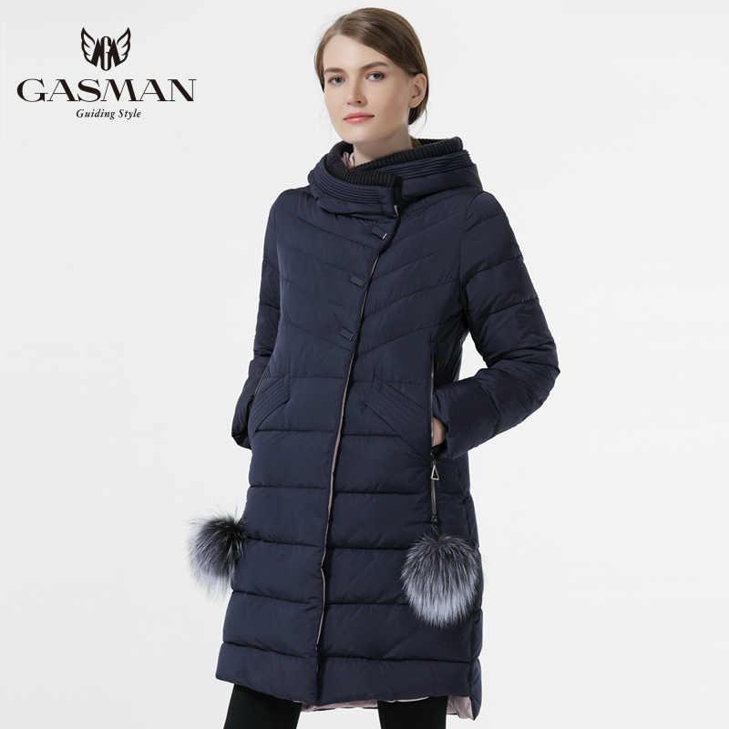 GASMAN manteau et veste femmes nouvelle Collection d'hiver 2018 mode bas Parka longue épaississement Bio doudoune pour femmes fourrure naturelle