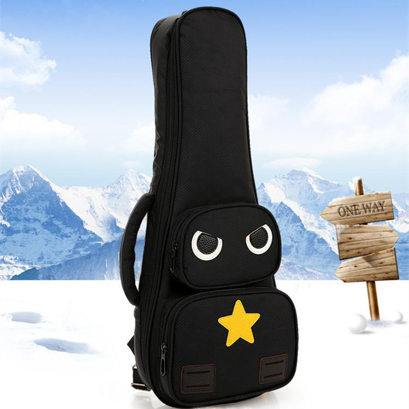 Cool unique 21 23 26 inch soprano ukulele case small bass guitar bags soft gig cover tenor backpack lanikai concert padded ...