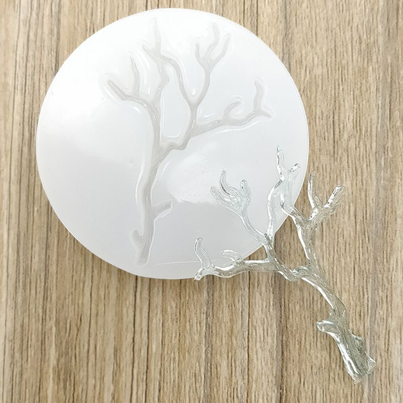 Leaves Branch Shape Epoxy Resin Casting Silicone Molds Jewelry Making Tools