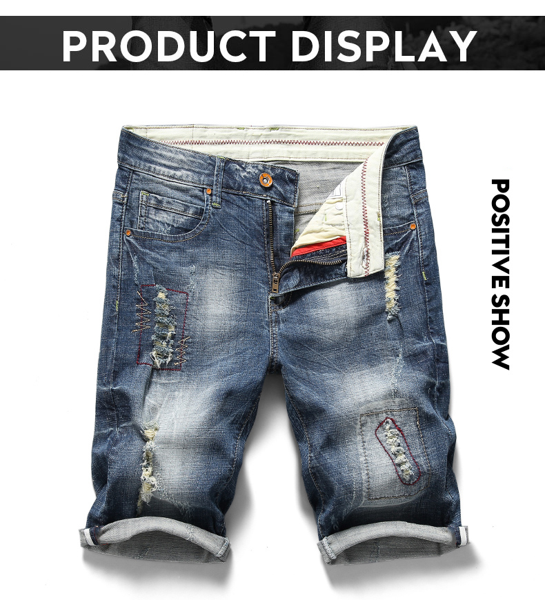 Hot 2020 Newest Summer Casual Shorts Men's Jeans Fashion Style Streetwear Hip Hop Ripped Distressed