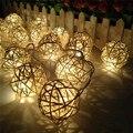 1*2 M 20LED Bola Videira Forma Luzes Da Corda Branca Quente, venda Quente da bateria-powered LED para restaurante, Jardim decoração romântica