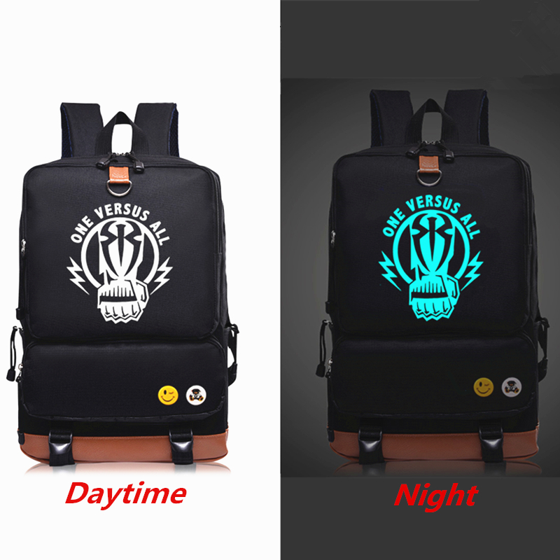 New Wrestling Roman Reigns Luminous Printing Backpack Mochila Rucksack Teenagers Laptop bag Canvas Backpacks Fashion School Bag