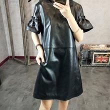 2019 New Fashion Genuine Sheep Leather Dress Y14