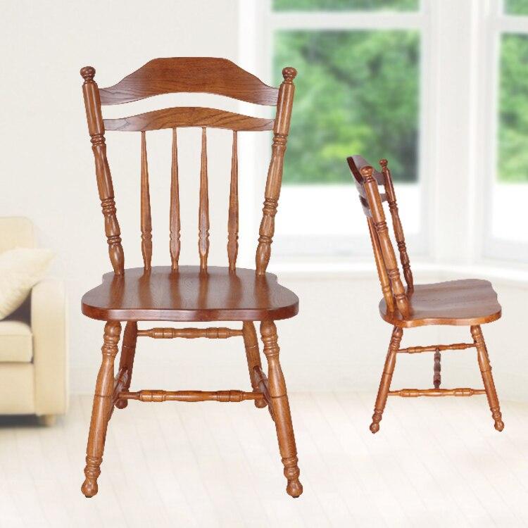 rstica silla de comedor de madera maciza de roble antiguo restaurante cafetera comedor muebles apoyabrazos silla