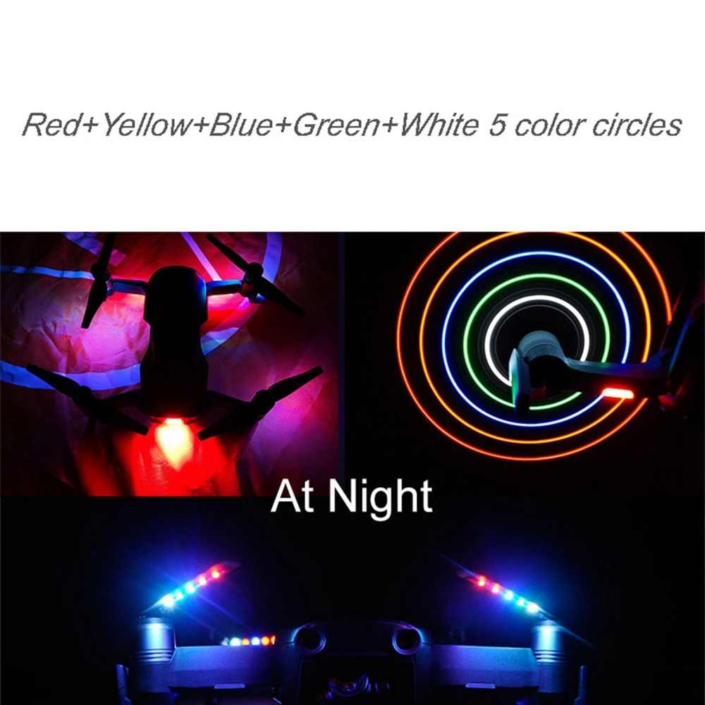 1Pair LED Light Flash Quick-Release Propellers Props Blades for DJI Mavic  Air Drone Low-Noise Propeller USB Charging Accessories