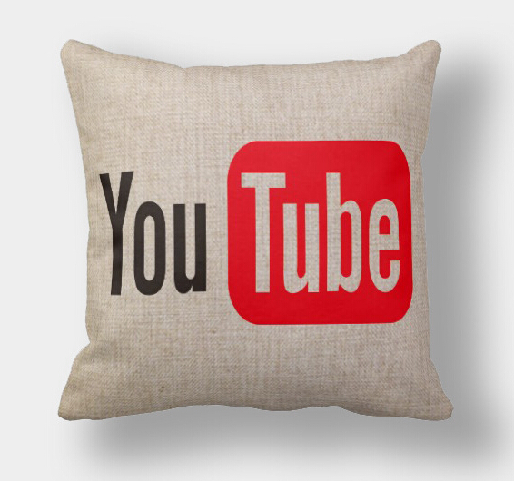 Bulk Throw Pillow Cases : YouTube pillow cover, Creative social media YouTube throw pillow case pillowcase wholesale-in ...
