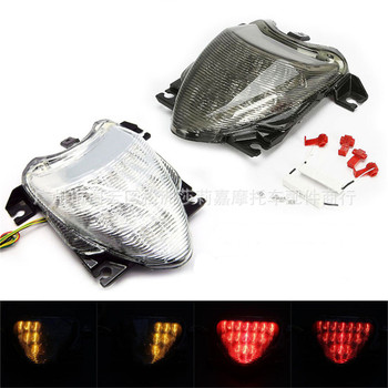 1 Pair Motorcycle LED License Plate Light Motorcycle Tail Lights Motorbike Turn Signal Indicators for Suzuki MT185 M109R 06-09