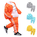 LittleSpring 2017 Spring Fall Baby Boy Cotton Tracksuit Boys Jogging Sets Kids Outfits Clothing Set Baby Boy Clothes Boys Sport