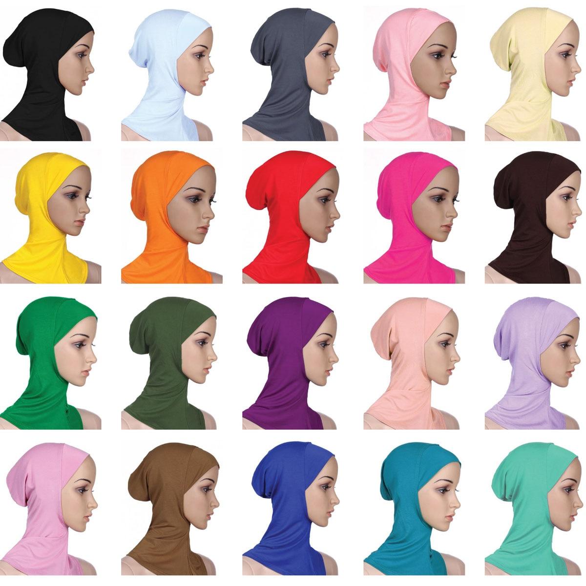 Soft Under Scarf Hat Cap Bone Bonnet Hijab Islamic Head Wear Neck  Full Cover Inner Muslim Lady Elastic Ninja Women Headwear CapsIslamic  Clothing