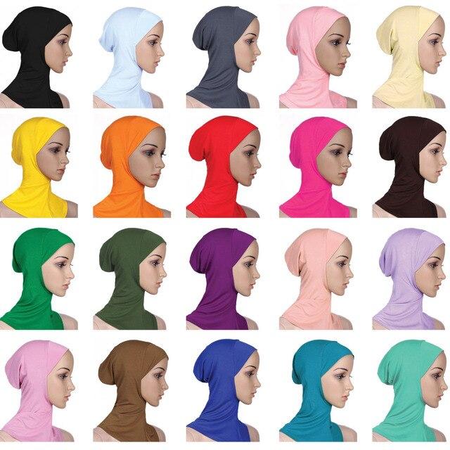 Zachte Onder Sjaal Hoed Cap Bone Motorkap Hijab Islamitische Hoofd Slijtage Hals Volledige Cover Inner Moslim Dame Elastische Ninja Vrouwen hoofddeksels Caps