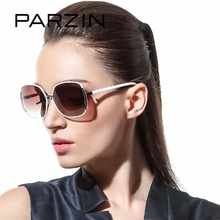 PARZIN Brand Polarized Sunglasses Women Big Cat Eye Metal Frame Grace Elegance Fashion High Quality Driving Glasses 9627