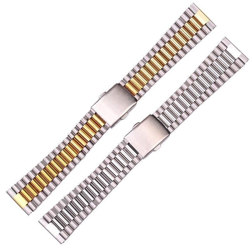 316L Stainless Steel Watch Band Bracelet Silver Gold Women Watchbands 12mm 14mm 16mm 18mm 20mm Clock Wrist Strap Clasp316L Stainless Steel Watch Band Bracelet Silver Gold Women Watchbands 12mm 14mm 16mm 18mm 20mm Clock Wrist Strap Clasp