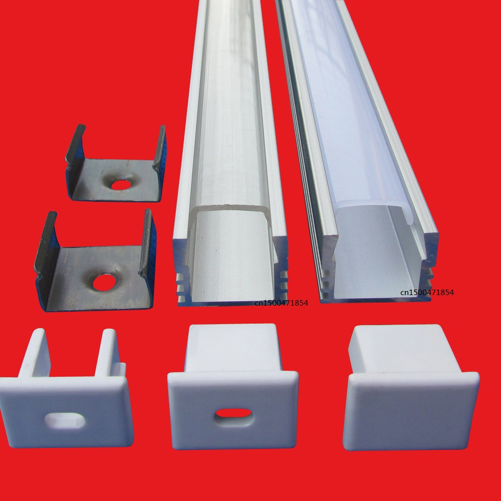 10pcs 100inch 2 5m each led bar light housing U Led aluminum profile with Cover Led