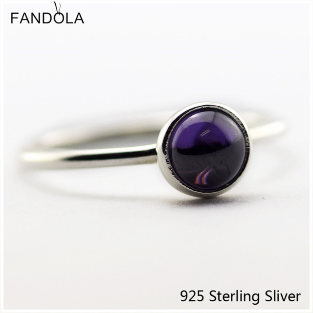 925 Sterling Silver Poetic Droplet, Purple Rings For Women Original DIY European Style Fashion Jewelry CKK FLR078A