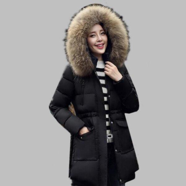 ФОТО 2016 Brand Winter Jacket Women Plus Size Down Parka Jackets Fur Collar Female Winter Coat Womens Parkas Cotton-padded Coats A324