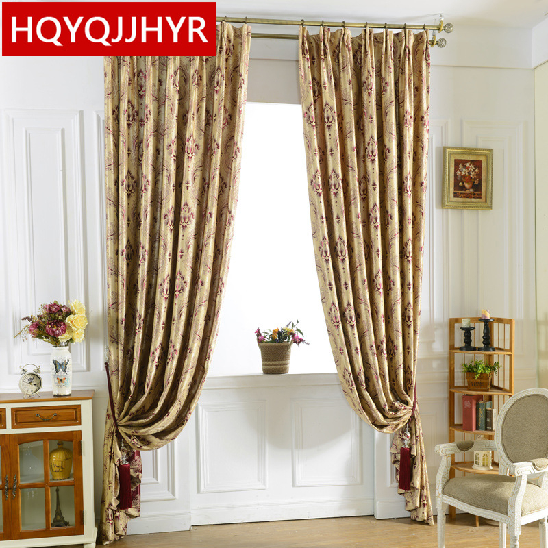 European Luxury Jacquard Blackout Curtain Fabric For