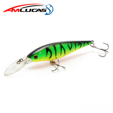Amlucas Minnow Fishing Lure 110mm 9.5g Crankbait Wobblers Esche Dure Artificiali Pesca Carp Fishing Tackle peche WE266